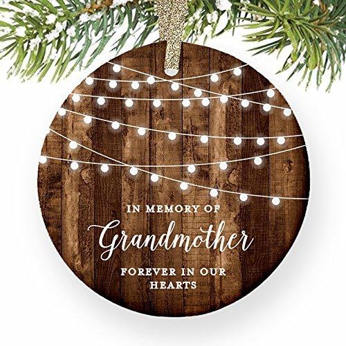 Ornament, Großmutter Mitgefühl Geschenke in Memory of Großmutter Oma Weihnachts datiert Memorial Nana Geschenk Weihnachtsbaum Geschenk Idee (Datiert Weihnachtsbaum Ornamente)