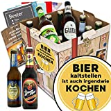 Bier kalt stellen ist auch irgendwie kochen | Bierpaket mit Bieren aus Deutschland | INKL 6 Geschenk Karten für jeden Anlass + Bier-Bewertungsbogen + 3 Urkunden | Biergeschenk Box mit Bieren aus Deutschland | Individuelle Geschenk-Box - Bier mit Bieren aus Deutschland kalt stellen ist auch irgendwie kochen | Bier Geschenk Geschenkideen Bier kalt stellen ist auch irgendwie kochen Männer Geschenke Geschenke Mann Geschenkidee Männer