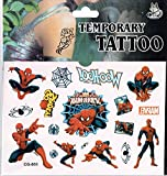 Sheet of Tattoos - Perfect for Party Bags - Frozen, Spiderman and Many More (Spiderman)
