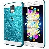 delightable24 Schutzhülle Sparkle Design Case SAMSUNG GALAXY S5 / S5 NEO Smartphone - Blau