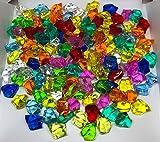 CRYSTAL KING 140 Stück 500g große Bunte Deko EIS Diamanten 32mm Brillianten Strasssteine Acrylsteine basteln Dekosteine Gltzersteine Strass Steine zum Verzieren Dekorieren - 2