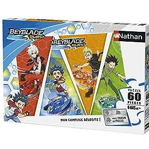 Nathan Puzzle Combat de Toupies Beyblade 60Piezas, 86625