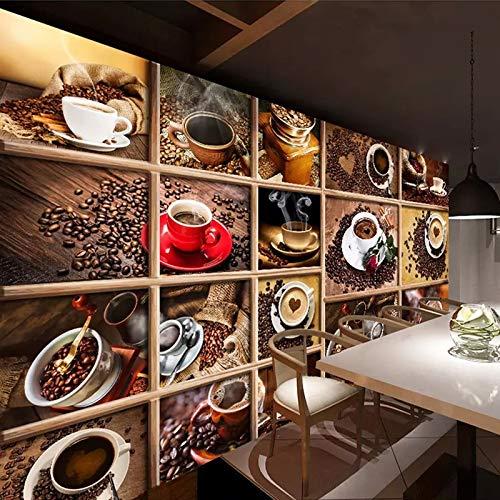 LONGYUCHEN Kreative Art Und Weisemuster-Kaffeebohne-Kaffeetasse Der Gewohnheit 3D Silk Wandbilds...