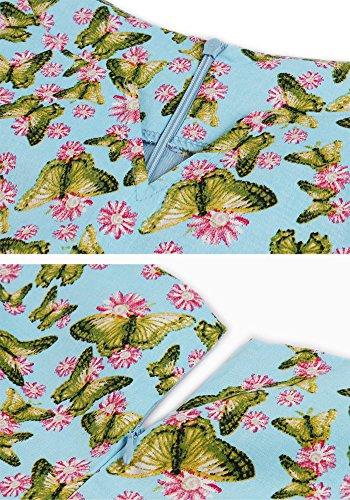 Botomi Le donne Sono Vintage Festa di Classe Picnic Festa Vestito da Cocktail Swing 12.2XL Blue
