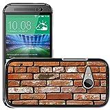 Hülle Case Schutzhülle Cover Premium Case // M00154381 Brick Bricks Gebrauchte Wand // HTC One Mini 2 / M8 MINI / (Not Fits M8)