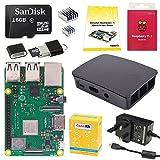 CanaKit Raspberry Pi 3 Model B+ Desktop Starter Kit (16 GB, Black Official Case)