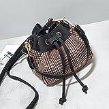 OME&QIUMEI Satchel Gewen Bucket Bag Tasche Tasche Tasche Khaki