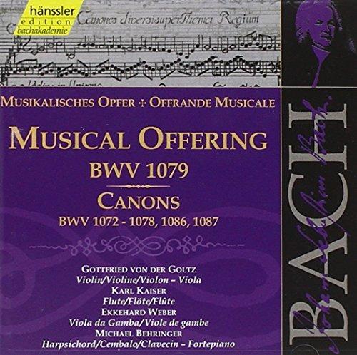 Bach: Musical Offering BWV 1079; Canons BWV 1072-1078, 1086,1087 (Edition Bachakademie Vol 133) /Behringer ??? Kaiser ??? Goltz by Johann Sebastian Bach (2000-02-29)