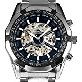 ESS Men's Black Dial Mechanical Stainles...