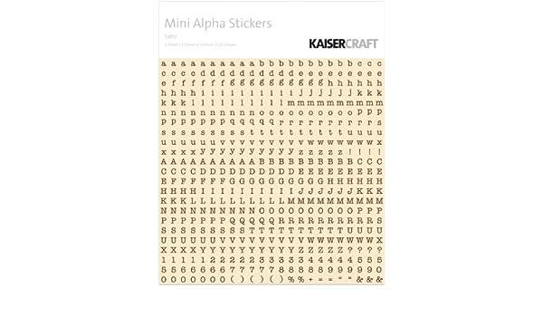 """Kaisercraft Mini Alphabet Stickers 5.9/""""X5.9/"""" Chocolate /& White"""