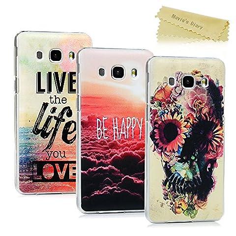 [3-Pack]Mavis's Diary Samsung Galaxy J5 Case (2016 Version) - 3
