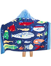 Comfysail Kids Hooded Beach Bath Towel 100% Cotton Super Soft Childrens Towel Swimming Girls Boys