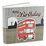 Laura Darrington Typography Collection Album London Bus Happy Birthday