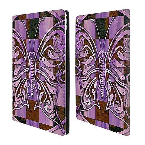 Officiel Peter Barreda Ashalia Pinktile Esprit Lumineux Mandalas Étui Coque De Livre En Cuir Pour Apple iPad Pro 12.9
