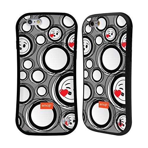 Ufficiale Emoji Scatole Modelli 2 Case Ibrida per Apple iPhone 6 / 6s Cerchi
