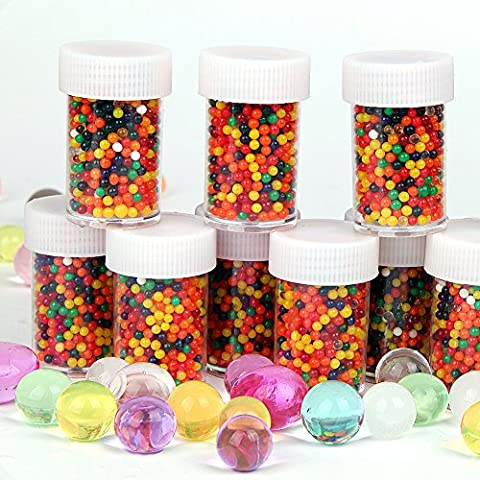 12 Colors Bottle Water Beads (20,000Pcs) Rainbow Mix, water balls