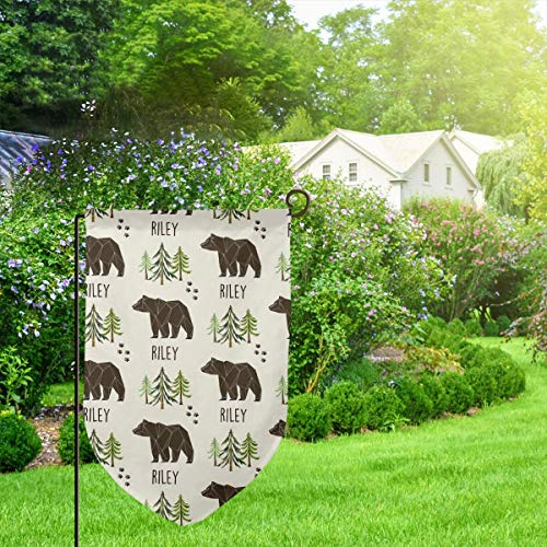 IconSymbol Garden Outdoor Flag Stand Banner Custom Name Riley Decorative Weather Resistant Double Stitched 18 x 12.5 Inch