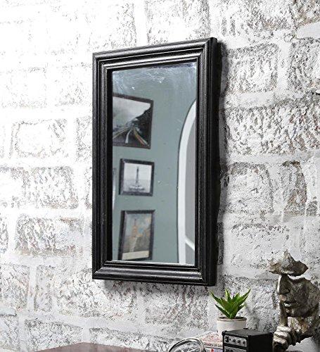 Wooden Framed Mirror in Walnut Finish By Furniselan