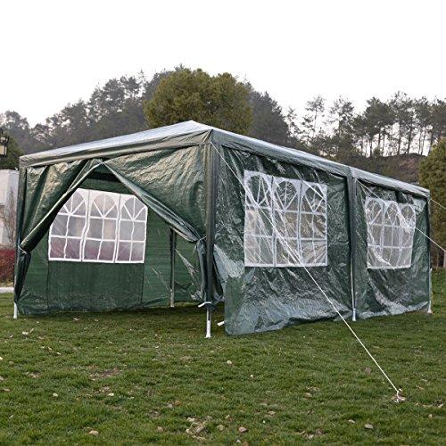 Tente de reception tonnelle chapiteau de jardin avec fenêtres cotés détachable Festivite 3×6m