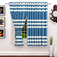 Story at Home 200 GSM Polyester 2 Pieces Window Curtain, Blue, 118 cm x 152 cm