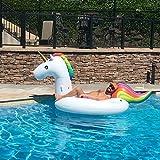 Jasonwell®Riesiger aufblasbarer Einhorn Pool Floß mit speziellen schnell Ventilen -