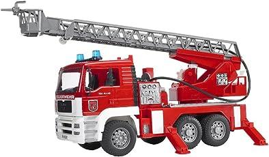 Bruder Spielwaren 2771 - Bruder Man Feuerwehr mit Drehleiter