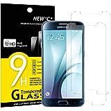 NEW'C PanzerglasFolie Schutzfolie für Samsung Galaxy S6, [2 Stück] Frei von Kratzern Fingabdrücken und Öl, 9H Härte, HD Displayschutzfolie, DisplayschutzfolieSamsung Galaxy S6