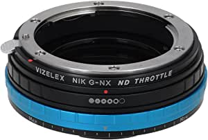 Fotodiox Pro Vizelex Nd Throttle Adapter With Built In Variable Nd Filter For Nikon G Lens To Samsung Nx Camera