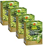 Oleanderhof® Sparset: 4 x COMPO Bäume, Hecken, Sträucher Langzeit-Dünger, 2 kg + gratis Oleanderhof Flyer
