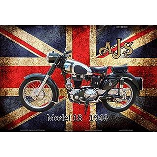 Schatzmix AJS Model 18 1949 UK motorrad blechschild
