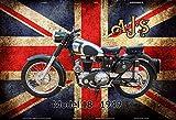 ComCard AJS Model 18 1949 UK Motorrad Schild aus Blech