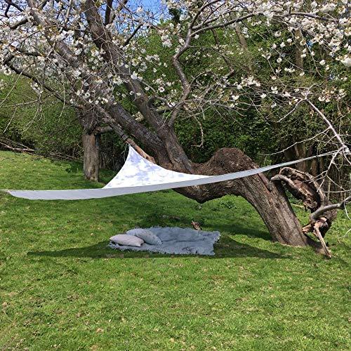 Clara Shade Sails Voile d'ombrage Toile Parasol de Jardin Canopy imperméable à l'Eau 98% de Protection Contre Les UVs (Triangle 3m)