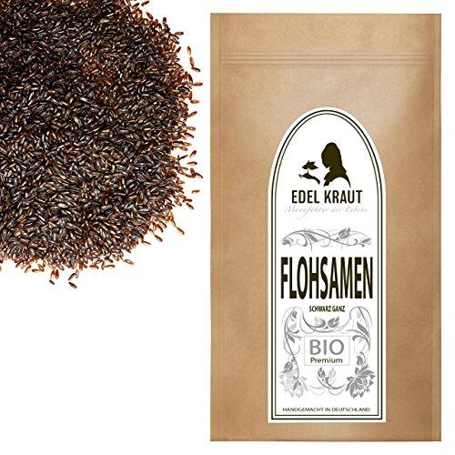 EDEL KRAUT   BIO Flohsamen schwarz ganz – premium organic psyllium 1000g