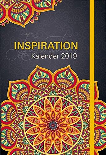 Inspiration - Kalender 2019: Taschenkalender mit Lesebändchen und Gummiband