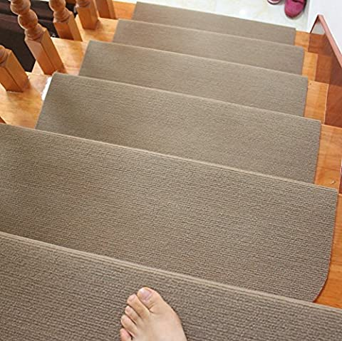 skid-resistant rubber backing non-slip carpet stair treads-machine washable area rug(set of 7), 8.5