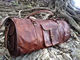 Vintage Crafts Leather Weekend Bag Leather Sports Bag Leather Overnight Bag Leather Duffel Leather Travel Bag