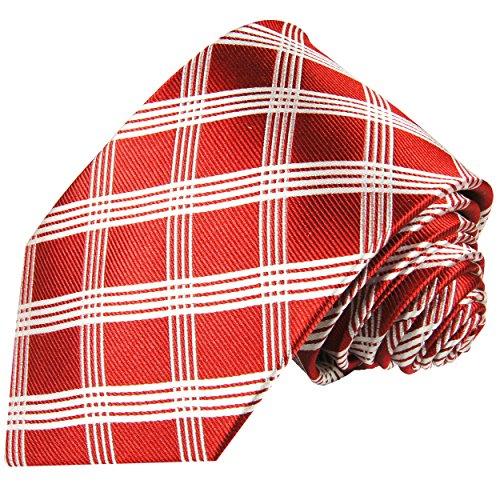 Cravate homme rouge carreaux 100% cravate en soie ( longueur 165cm )