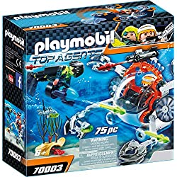 Playmobil 70003 Top Agents Spy Team Sub Bot, Multicolore