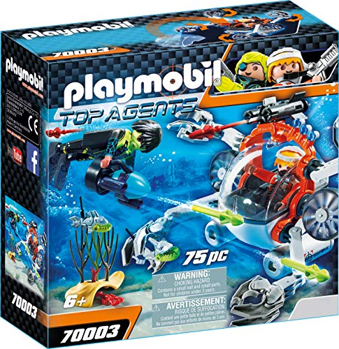 Playmobil 70003 Top Agents Spy Team Sub Bot, bunt