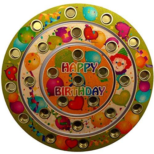Hess Holzspielzeug 15643 - Geburtstagsring Happy Birthday aus Holz für 26 Kerzen, ca. 22 cm
