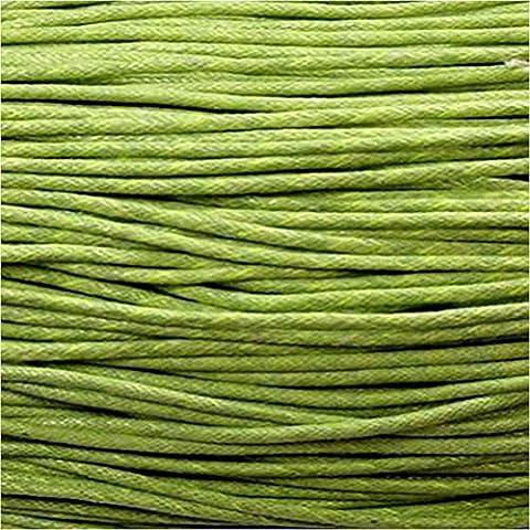 10 m di filo di cotone cerato per creazione braccialetti shamballa tibetani, 1 mm, colore: verde