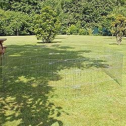 Sommergarten 12x60x60 verzinkt mit 2Türen Freilauf Auslaufgehege