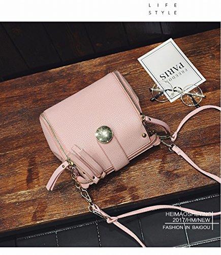 Weibliche mode Eimer kleine tasche einzigen Schulter messenger bag multifunktions-paket Rosa