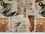 Zanderino ab 1m: Dekostoff, Digitaldruck, afrikanische Tiere, Natur, 140cm breit