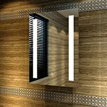 LED Cuarto de baño espejo con iluminación LED de ahorro blanco cálido IP44antivaho [Clase energética A +] 100x 70cm, 50*70cm mit Lichtstreifen