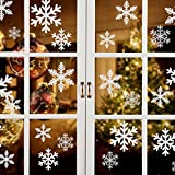 Naler 85 Schneeflocken Fensterbild Abnehmbare Fensterdeko Statisch Haftende PVC Aufkleber Winter Dekoration