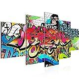 Bilder 200 x 100 cm - Graffiti Bild - Vlies Leinwand - Kunstdrucke -Wandbild - XXL Format – mehrere Farben und Größen im Shop - Fertig zum Aufhängen - !!! 100% MADE IN GERMANY !!! - Abstrakt – Hip Hop 401751a