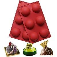 BAKER DEPOT Silikonform mit 6 Löchern für Schokolade, Kuchen, Gelee, Pudding, handgefertigte Seife, runde Form…