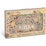 RIZLA Portatabacco con porta accendino in carta Tyvek, resistente ai liquidi, stampa Rizla Nature, multicolore