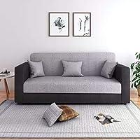 CasaStyle - CasaLiving Three Seater Sofa (Grey-Black)